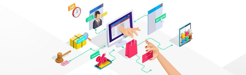 Interakcia zákazníka s e-shopom